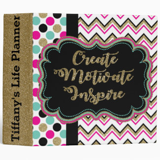 Create Motivate Inspire Personalized Life Planner 3 Ring Binder