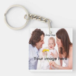 Create My family personalize photo Keychain