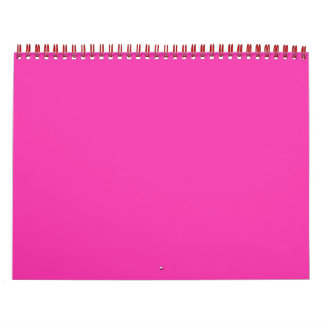 Create Neon Pink Photo Wall Calendar for Daughter