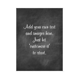 Create own chalkboard wall art - menu,sign,proverb canvas print