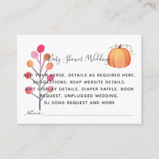 Create Own Event Details Inserts - Fall Pumpkin
