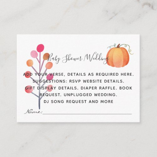 Create Own Event Details Inserts _ Fall Pumpkin