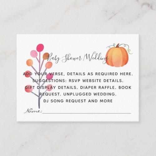 Create Own Event Details Inserts - Fall Pumpkin