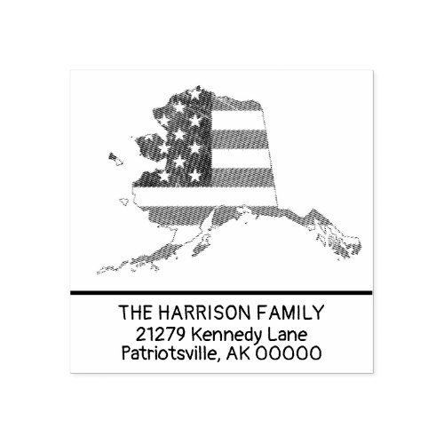Create Own Family Name Alaska Return Address Rubber Stamp