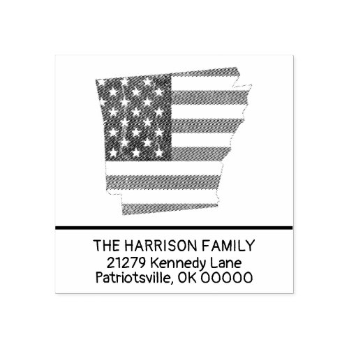 Create Own Family Name Arkansas Return Address Rubber Stamp