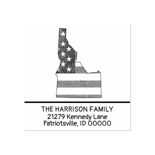 Create Own Family Name Idaho Return Address Rubber Stamp