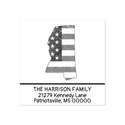 Create Own Family Name Mississippi Return Address Rubber Stamp