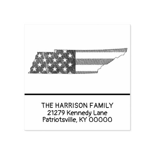Create Own Family Name Tennessee Return Address Rubber Stamp