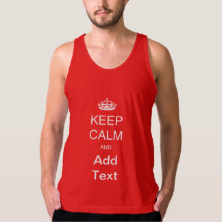 Create own Keep Calm tshirt, add text personalize Tank Top