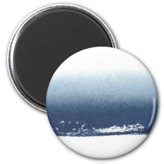 Create Own Peronalized Gift - Watercolor Navy Blue Magnet