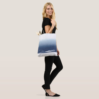 Create Own Peronalized Gift - Watercolor Navy Blue Tote Bag