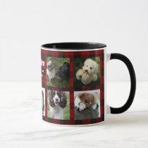 Create Own PET photo collage Instagram Name Gift Mug