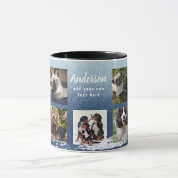 Beach Themed Create Own PET photo collage Instagram Name Gift Mug