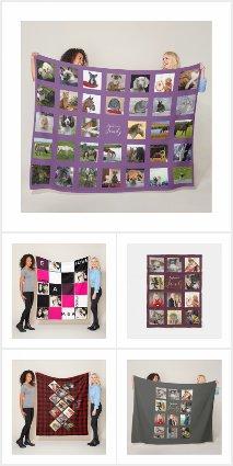 Create Own PHOTO Blanket - add instagram photos