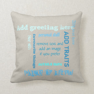 Create Own Wordcloud Throw Pillow