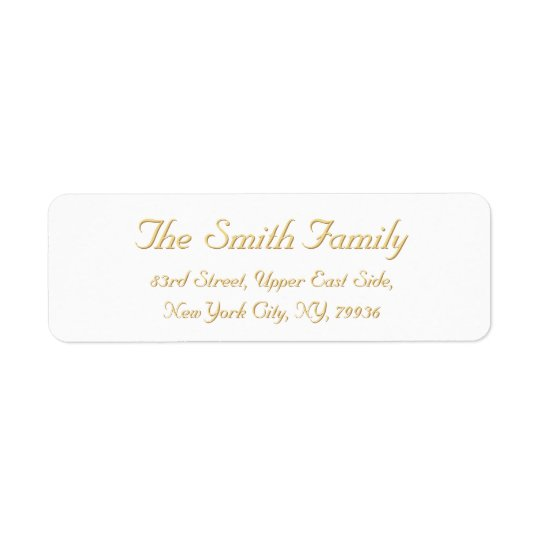 Create Personalized Elegant Return Address Label | Zazzle