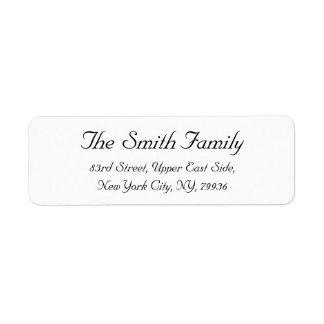 Create Personalized Elegant Return Address Label