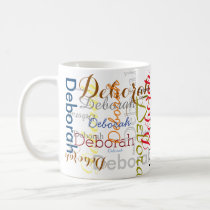 create personalized Name typography Coffee Mug