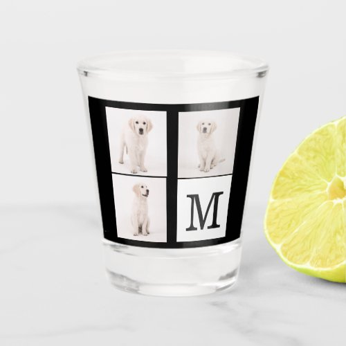 Create Photo Family Monogram Collage Shot Glass