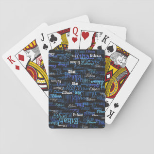 Create Playing Cards Game With Your Own Name On It at Zazzle