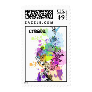create. postage stamps