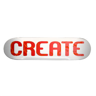 Create - Red and Pink Skateboard