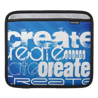 Create; Royal Blue Stripes Sleeve For iPads
