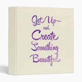 Create Something Beautiful Purple 3 Ring Binder