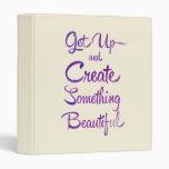 Create Something Beautiful Purple Binders