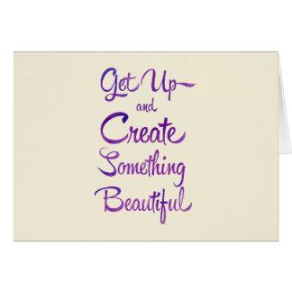 Create Something Beautiful Purple Card