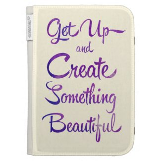 Create Something Beautiful Purple Kindle Keyboard Case