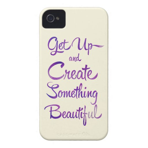Create Something Beautiful Purple iPhone 4 Covers