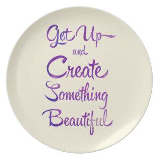 Create Something Beautiful Purple Plate