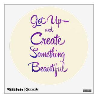 Create Something Beautiful Purple Wall Decal