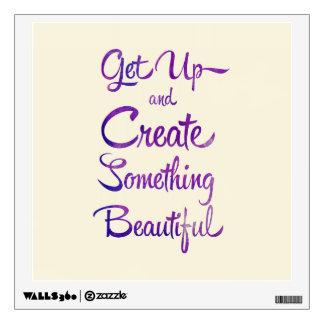 Create Something Beautiful Purple Wall Sticker
