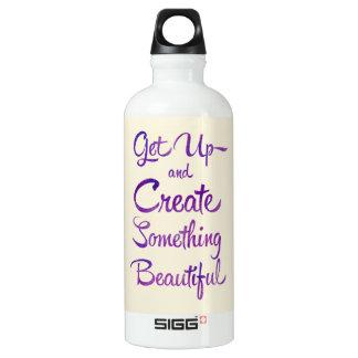 Create Something Beautiful Purple Water Bottle