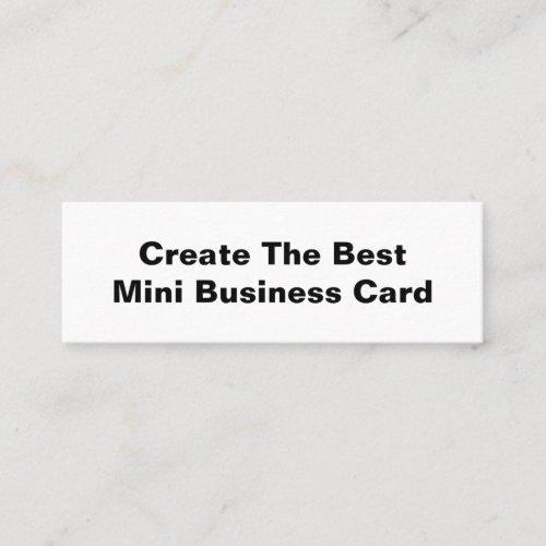 Create the best mini business card
