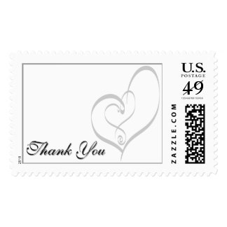 Create Unique Thank You Wedding Hearts Thank Yous Postage