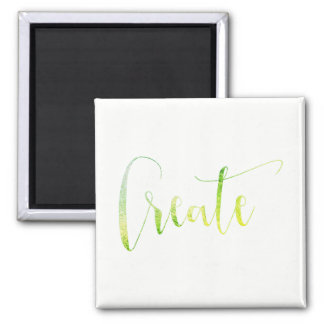 Create White Greenly Leaf Planner Blogger Tropical Magnet
