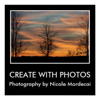 Create With Photos Sunset Over Boston Poster