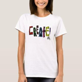 Create-Women's Hanes ComfortSoft White T-Shirt