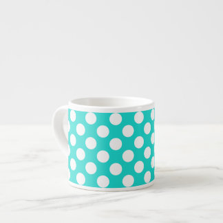 Create Your Background Color with White Dots 3 Espresso Cup