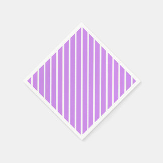 Create Your Background Color with White Stripes 11 Paper Napkin