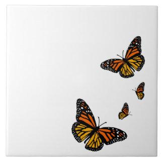 Create Your Bkgnd Color Monarch Butterflies Tile