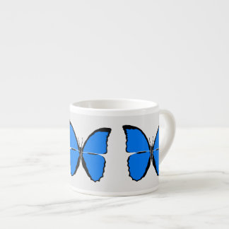 Create Your Color Blue Butterfly Expresso Cup