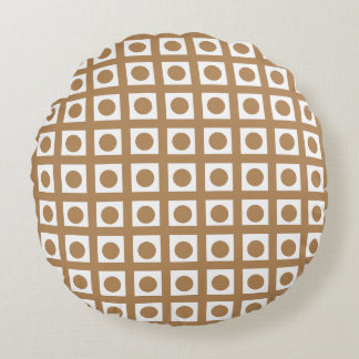 Create Your Color with Dots and Stripes 1 Round Pillow