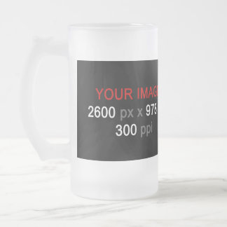 Create Your Custom Photo 16 oz Frosted Glass Mug
