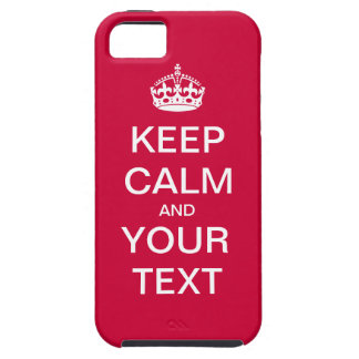 "Create Your Custom Text ""Keep Calm and Carry On""! iPhone SE/5/5s Case"