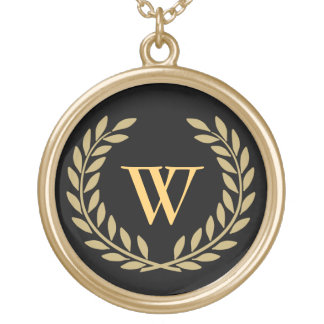 Create Your Decorative Monogram Gold Plated Necklace