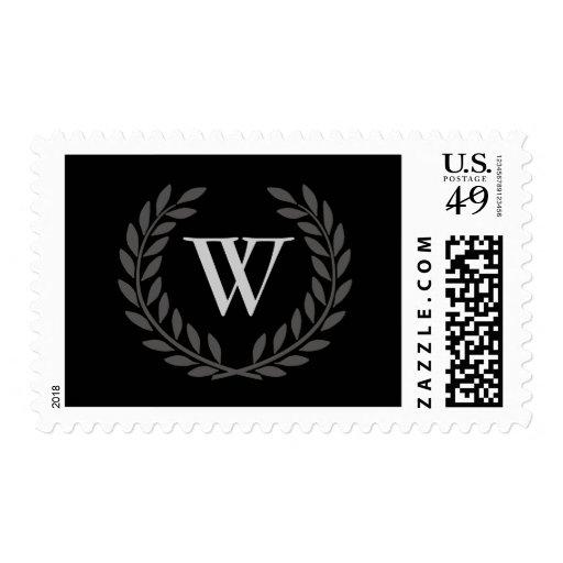 Create Your Decorative Monogram Postage Stamp